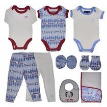 Conjunto Saída Maternidade Tigor T. Tigre Baby 9 Peças