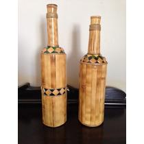 Artesanatos Bambú - Bandeja, Garrafas, Sino Do Vento, Vasos