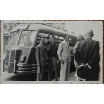 Foto Postal Ônibus Na Avenida Rio Branco Rio De Janeiro 1952