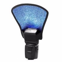 Difusor Flash Leque Rebatedor 2 Lados Branco Azul Novo