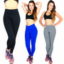 Kit 5 Calça Legging Montaria Suplex Power Fitness Academia