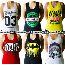 5 Regatas T-shirt Fitness - Mickey - Yankees - Jack Daniel´s