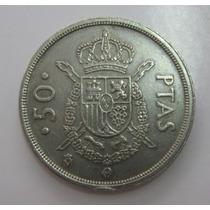 Espanha: Bela Moeda De 50 Pesetas 1983 Sob Menos 30 Mms