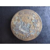 Moeda De 1000 Réis De 1927 - Reverso Inclinado