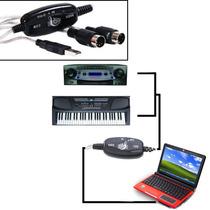 Cabo Midi - Usb Adaptador Conversor De Áudio