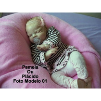 Boneca Bebê Reborn Pamela Ou Plácido Parece Um Bebe Real