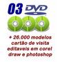 3 Dvds + 26.800 Modelos De Cartão De Visita + Brindes