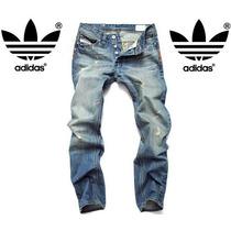 Calça Adidas Jeans Marca Famosa Jogador Famoso - Importada