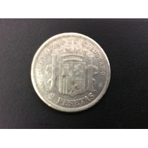 Moeda Antiga Espanha 2pesetas 1870