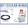 Kit Celular Mesa Rural Telefone +cabo + Antena Externa 18dbi
