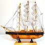 Barco Caravela Em Madeira E Tecido Decorativa Lindo Presente