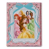 Caderno Bloco Caneta 3 Partes Princesas Disney Capa Dura