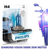Lâmpada P/ Motos H4 35/35w Xenon Diamondvision Philips 5000k