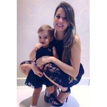 Vestido Renda Mãe E Filha Com Cinto