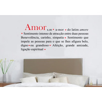 Adesivo Decorativo Romântico Amor (120x48)cm - Frete Gratis