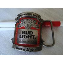 Fivela De Cinto Colecionável - Cerveja Bud Light Esmaltada