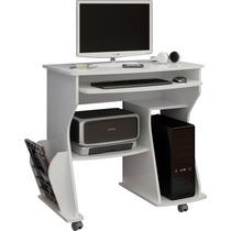 Mesa De Computador Espaço Para Livros Revistas Branco Estudo