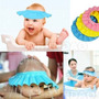 Chapéu Viseira Protetor Olho Ouvido E Face P/ Banho Em Bebê