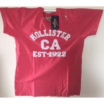 Camiseta Básica Masculina Hollister Frete Grátis+bolsa Nike