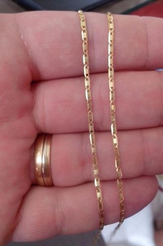 ce4e6979fc1b3 Corrente Cordão Masculino Piastrine 70cm Em Ouro 18k-750 - R  512 en ...