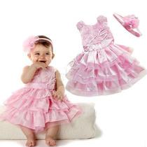 Vestido Infantil Importado Para Casamento Com Tiara