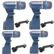 Sjuro Kit Com 4 Microfones De Bateria Beta56 Bt-56 Arcano