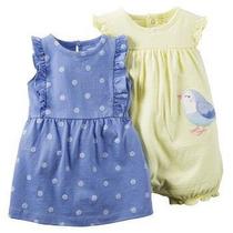 Vestido Infantil Carters Kit 2 Peças Importado