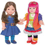 Kit Chiquititas (1 Boneca Mili 42 Cm E 1 Boneca Laura 42cm )