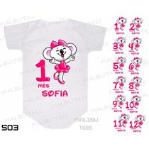 Body Lilica Riplica Mesversario Personalizado Kit Com 12