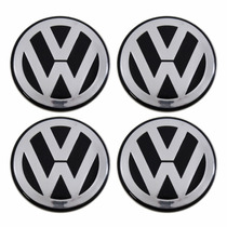Kit Calotinha Centro De Roda Tsw 60mm Logo Vw Golf Europeu