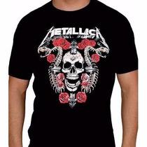 Kit 6 Camiseta Rock Slipknot, Metallica, Guns N Roses, Iron
