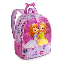 Mochila Princesa Sofia Com Gliter Original Disney Store