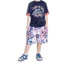 Conjunto Infantil Masculino Bike Camiseta/bermuda Estampa...