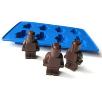 Forma Silicone Gelo Chocolate Doces Bloco Lego