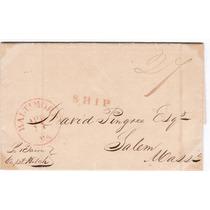 Rara Carta De Porto Alegre Para Salem - Eua - 1835 - Eci028