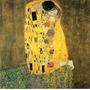 Foto P Quadro Gustav Klimt 90x91cm Kiss Obra De Arte O Beijo