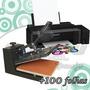 Kit Sublimação Prensa Plana 38x38 + Impressora A4 Lj Na 25