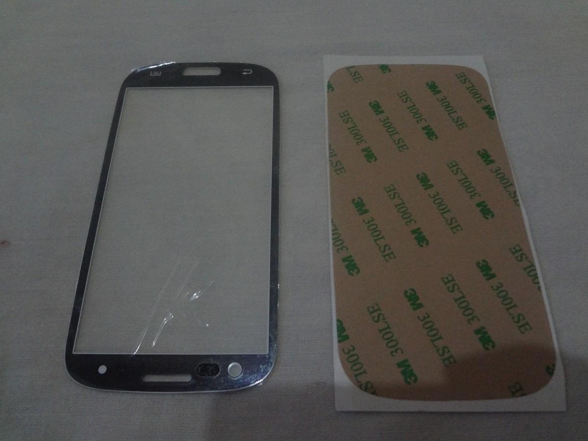 Tela Vidro Azul Samsung Galaxy S3 Gt- I9300 + Adesivo 3m