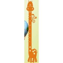 Adesivo Decorativo Infantil Régua Crescimento Girafa -reg-03