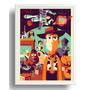 Quadro Filme Toy Story Cartoon Moldura Branca Arte Decoracao
