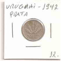 Ml-1246 Moeda Uruguai (prata) 20 Cents. - 1942