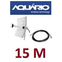 Grade Internet Wifi Wireless 25 Dbi Mm-2425 + Cabo 15 Metros