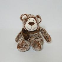 Urso De Pelúcia Cachecol Mini Marrom