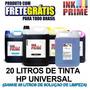 Tinta Impressora Hp 20 Litros + 5l De Solucao Frete Gratis