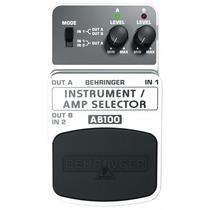 Pedal Behringe Seletor De Instrumentos/amplificador Ab100