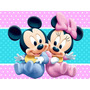 Kit Festa Provençal Minnie E Mickey Baby Arte Cartões E Mais