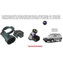 Plug Chicote Conector 2 Fios Bico Injetor Fiat Uno