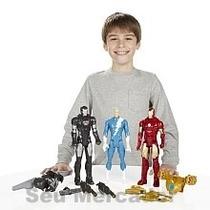 Jogo 3 Bonecos Marvel Titan Presente Aniversário Menino 30cm