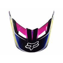 Visor (pala) Capacete Fox V1 Race Yellow/blue - Size M/l