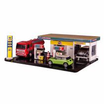 Brinquedo Poli Posto C/ Carrinhos E Caminhão 5504 - Poliplac